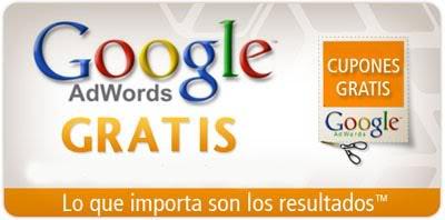 cupones gratis adwords para promocionar tu página web
